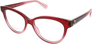 Gucci Gucci Logo GG 0373O 005 Red Plastic Cat Eye Eyeglasses 52mm