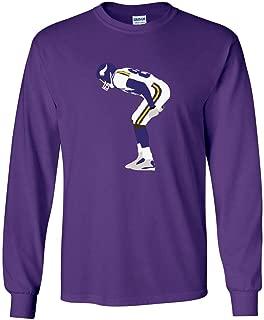Long Sleeve Purple Minnesota Moss Mooning Crowd T-Shirt