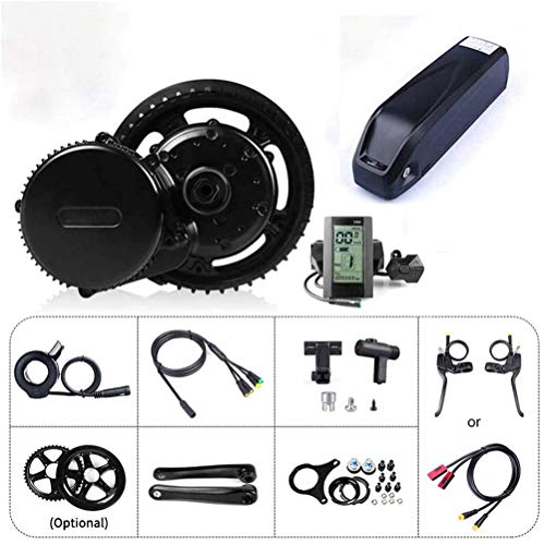 Electric Bikes Conversion Kit BBS01B 48V 250W Electric Bike Conversion Kit for Mountain Bike Accessories Road Bike E-bike Conversion Kit With E-bike Battery And Charger,Hailong 48V 15Ah-36V250W46T Sui