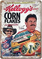 Kelloggs Corn Flakes NASCAR ティンサイン ポスター ン サイン プレート ブリキ看板 ホーム バーために