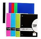 10½ 'x 20,3cm 3Thema Spirale Notebook, breit liniert, 120Blatt pro 4pk Notebooks + 6pk Poly Folder
