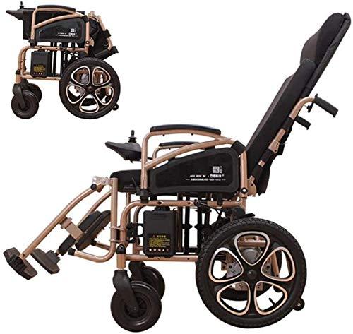 Silla de Ruedas eléctrica Plegable, Silla de ruedas 250W ligero eléctrico for ancianos discapacitados Silla plegable portátil de energía a distancia discapacitados control Vespa 24V Li-Lon de