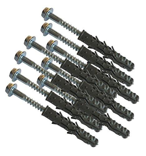 UvV-Reflex Schraubenset 9 Stück Befestigungsset für 3 flexible Absperrpfosten, Poller 45, 75 oder 100 cm hoch