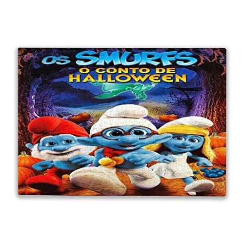 Cute Doormat Rompecabezas de los Pitufos de 500 piezas, rompecabezas de 500 piezas para adultos y amigos
