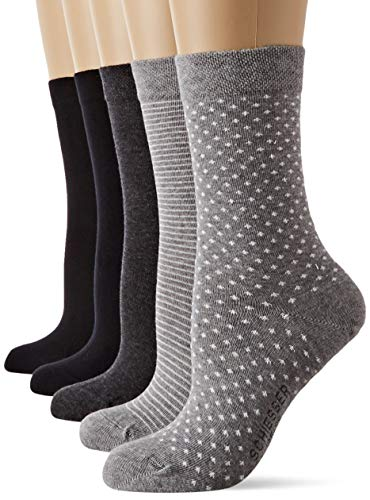 Schiesser Damen Multipack Damensocken (5PACK) Socken, Mehrfarbig (Sortiert 1 901), 39/42 (Herstellergröße: 403) (5er Pack)