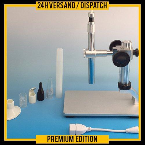Digitale endoscoop endoscoop pen microscoop USB-camera met aluminium statief WLAN onderzoek & Leer PCM-200 MCC