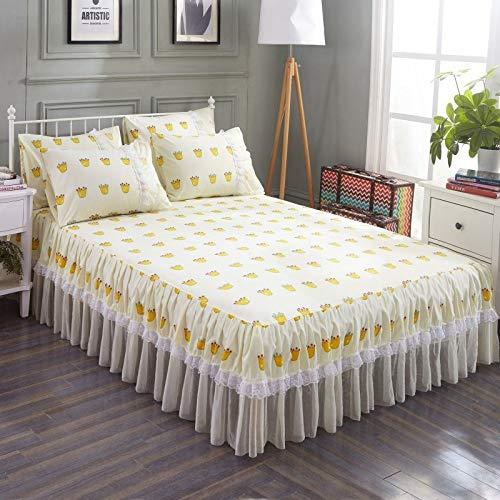 huyiming Verwendet für Simmons Bett Rock Einteilige staubdichte Abdeckung 1,5 m 1,8 m Einzelbett Rock 200cmx220cm