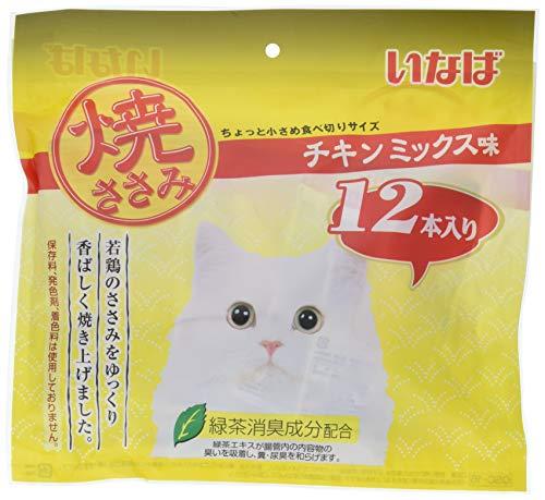 いなば 焼ささみ 猫用おやつ チキンミックス味 12本入