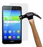 yayago Bildschirmschutzglas 0,26 MM Bildschirmschutzfolie für Huawei Y6 Glasfolie Hartglas 9H (bewusst Kleiner als das Bildschirm, da Dieses gewölbt ist)