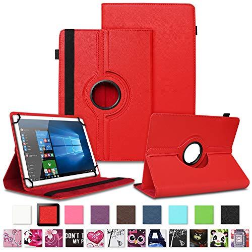 NAUC Tablet Schutzhülle kompatibel für LNMBBS P40 10.1 Zoll Tasche Tablettasche Hülle mit Standfunktion 360° drehbar Cover Universal Tablethülle Case, Farben:Schwarz