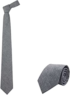 "Jnjstella Men's Cotton Solid Necktie 3.15"" Tie with Gift Box"