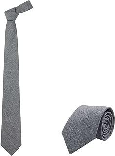 """Jnjstella Men's Cotton Solid Necktie 3.15"""" Tie with Gift Box"""