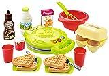 Jouets Ecoiffier – 2631 - Le gaufrier pour enfants 100 % Chef et ses ingrédients pour faire les gaufres – Dès 18 mois –...