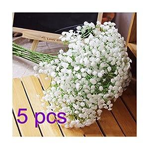 NO:1 Silk Artificial Baby Breath Gypsophila Flower Wedding Home Decor (5pcs)