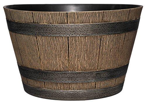 "GARDENGOODZ Whiskey Barrel Planter, Distressed Oak, 20.5"""