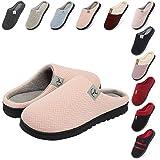 incarpo Zapatillas Casa Mujer Lana de Coral Zapatillas de Estar por Casa Antideslizante Pantuflas de Interior y Exterior Cálido y Confortable Zapatillas-Rosa-42/43 EU