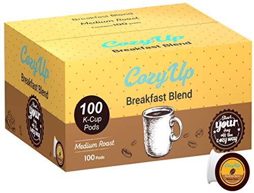 CozyUp Breakfast Blend Medium Roast Coffee Pods for Keurig Brewers, 100 Ct.