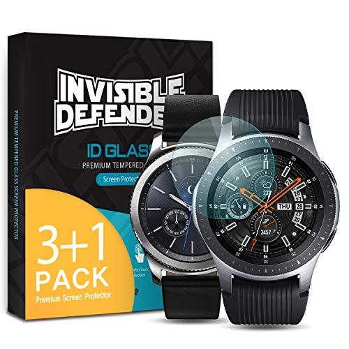 Ringke Invisible Defender Glass [4 Stück] Kompatibel mit Galaxy Watch 46mm, Gear S3 Panzerglas Folie Ultimative klar Schirm HD Qualität Schutzfolie, 9H Härte Technologie für Gear S3 Frontier