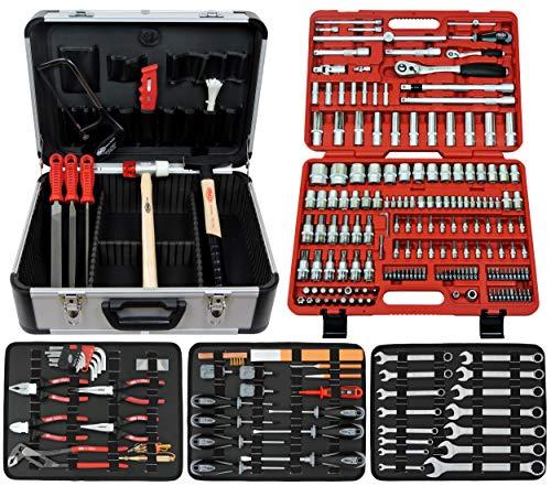 Famex 716-09 Werkzeugkoffer Komplettset High-End Qualität mit 173-teiligem Steckschlüsselsatz