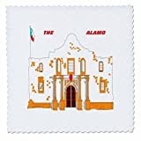 3dRose qs 45081 3 The Alamo for Kids-Quilt Square, 8 by 8-Inch