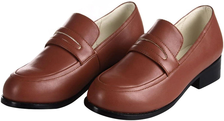 Mtxc Women's A Certain Scientific Railgun Cosplay Mikoto Misaka Uniform shoes Brown