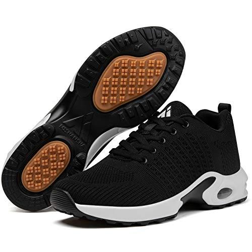 Mishansha Zapatillas Deportivas Mujer Zapatos Running Niña Comodos Zapatillas de Correr Antideslizantes Air Gimnasio Sneakers Mujer Negro 38