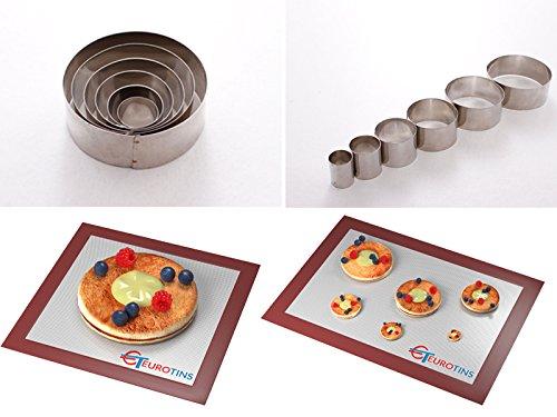 Lot de 6 emporte-pièces ronds en forme de feuille en acier - 2,5 cm de profondeur - Outil de décoration