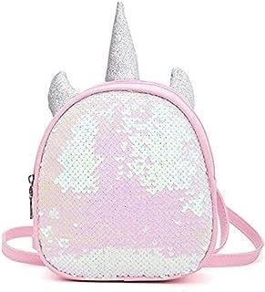 Mochila de unicornio escolar reversible con lentejuelas
