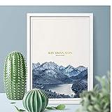 YGWDLON Poster und Druck Bayerische Alpen mit Schloss