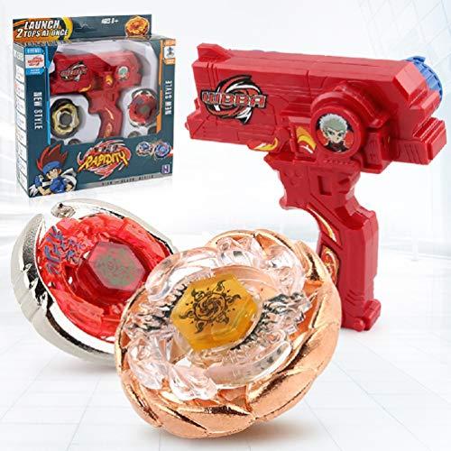 Heatigo 4D Kampfkreisel Set, Fusion Modell Metall Masters Speed Kreisel für Kindertag, Ostern, Weihnachten, Geburtstag und Neues Jahr