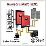 Inverter Onda Pura 3KVA (2400W) 24V regolatore PWM 50A cargadpr 30A