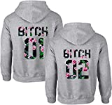 Couples Shop Best Friends Mujer Bitch Sister Sudadera con Capucha