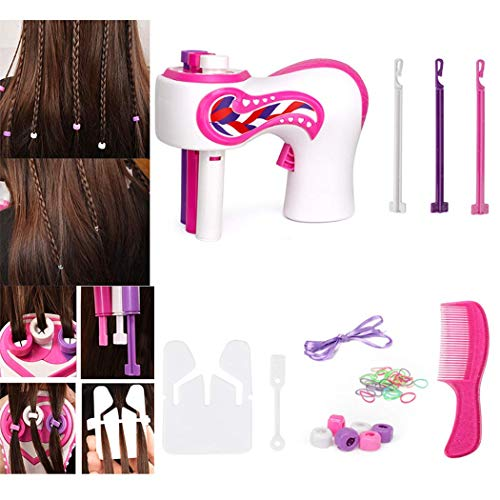 Fiunkes Elektrische automatische Haar-Flechtmaschine, DIY Stilvolle flicht Frisur Werkzeug Twist Flechtmaschine automatische Haar-Flechtmaschine-Styler-Tool