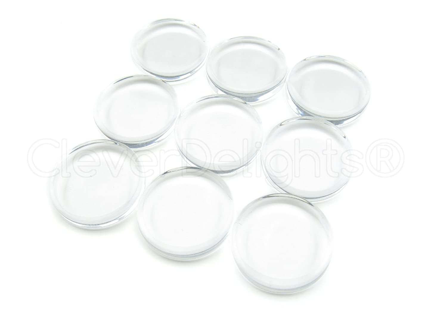 CleverDelights 100 20mm Round Glass Tiles - 3/4