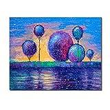 RTCKF Wall Art Canvas Pictures Home Decor Abstract Watercolour Scenery Oil Wallpaper Wall Living Room Decoration Lienzo Pintura Set Adultos decoración del hogar A4 60x80cm