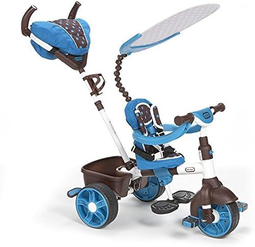 little tikes 634352E4 - 4-in-1 Sports Edition Trike, blau Weiß