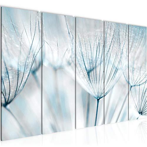 Decoración de la mesa pared de la flor diente de león - 200 x 80 cm Vista de impresión en lienzo Salón Apartamento - listo para colgar - 209855b
