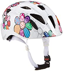 ALPINA Ximo Flash Casque de vélo, enfants, white flower, 47-51