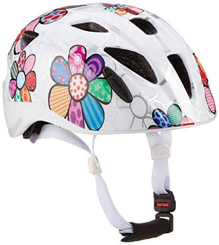ALPINA Unisex - Kinder, XIMO FLASH Fahrradhelm, white flower gloss, 47-51 cm