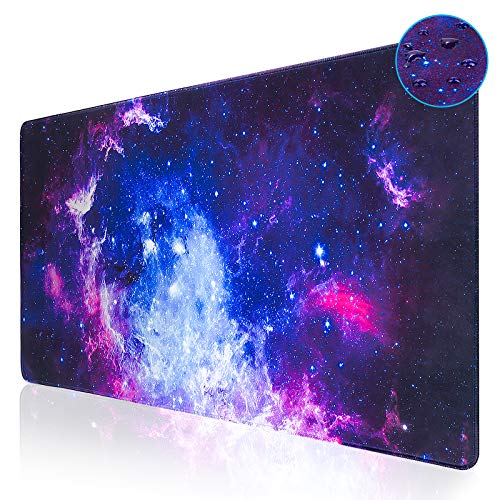 Large Gaming Mouse PadAupek XXL Extended Keyboard and Mouse Pad 315x157 inchDesk Mousepad Computer Keyboard Mat with Stitched Edges for GamerNonSlip Base WaterResistantOffice amp HomeGalaxy