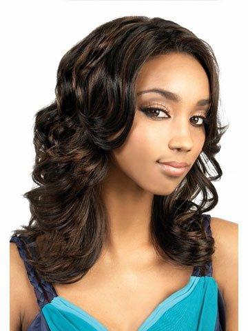 Pelucas de reemplazo de cabello Lamera resistente al calor de la peluca de color marrón oscuro y ondulado de la señora con tapa de peluca libre duradero, reutilizable