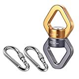 FeiYen Tree Swing Swivel Spinner with 2 Carabiners 30KN for Aerial Silks, Spider Web Tree Swing, Hanging Hammock, Children's Pod Swing - Safest Climbing Rotational Device Hanging Spinner 2500 up Lbs