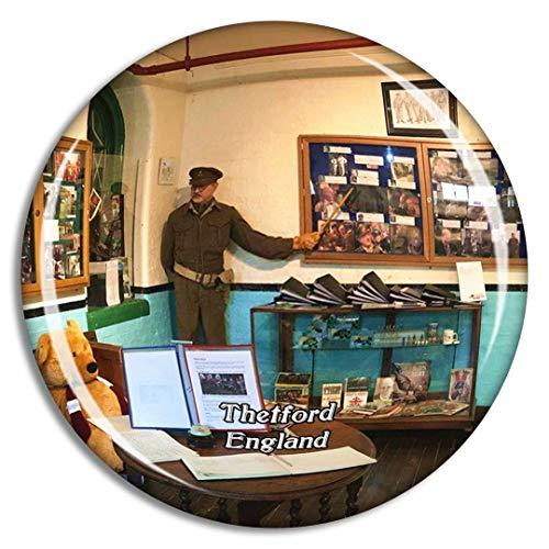 Weekino Thetford Dad'S Army Museum Reino Unido Inglaterra Imán de Nevera 3D de Cristal de la Ciudad de Viaje Recuerdo Colección de Regalo Fuerte Etiqueta Engomada refrigerador