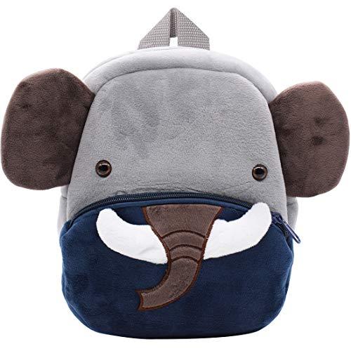 Elefante Zaino Asilo - Miotlsy Bimba Animali Cartoon Mini Nido Peluche Bambini Nimato Carino per Bambina Bambino 1-3 anni Cute Backpack-Elefante