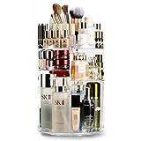 Auxmir Organizador de Maquillaje Giratorio 360°, Organizador Cosméticos Transparente con Gran...