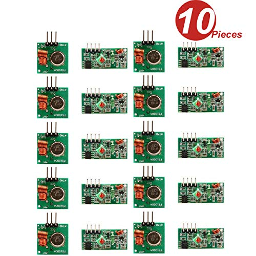 DollaTek 10Pcs 433MHz RF Transmisor inalámbrico y Kit de módulo Receptor para Arduino Raspberry Pi