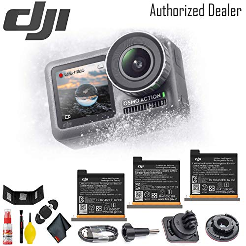 Why Choose DJI Osmo Action Camera - 3 Additional DJI Action Camera Battery w/Included Cases (3) - US...