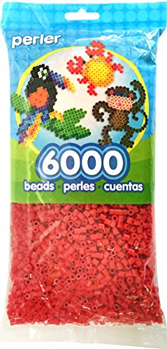 Perler Beads Fuse Beads for Crafts, 6000pcs, Red