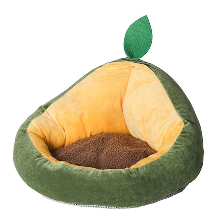 余分な温度計アリーナペットベッド アボカド型 犬猫用寝床 ペットマット クッション ふわふわ 柔らかい 通年利用 取り外し 洗える 可愛い おしゃれ インテリア 滑り止め 耐摩耗 湿気遮断 小動物用ベッド 手入れ簡単