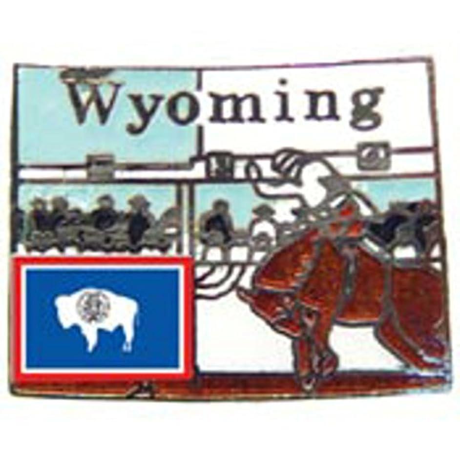 EagleEmblems P09251 PIN-Wyoming (MAP) (1'')